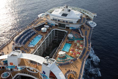 Upper Deck Of The Allure Of The Seas Largest Cruise Ship In The - List of largest cruise ships